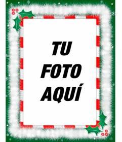 Marco para fotos con decoraciones de Navidad, especial para felicitaciones por email