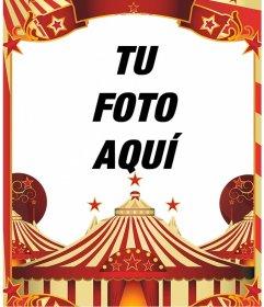 Marco para fotos del circo
