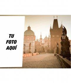 Postal para poner tu foto en una imagen de Praga