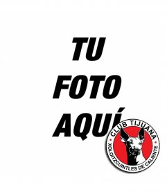 Montaje con el escudo del club Tijuana y tu foto