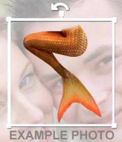 Pegatina de una cola de sirena para insertar en tus imagenes