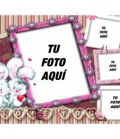 Collage de 4 fotos para enamorados