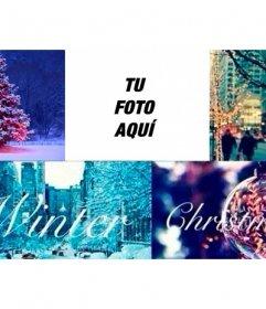 Collage de Navidad para foto de portada de Facebook