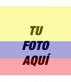 Fotomontaje con la imagen de la bandera de Colombia y tu foto