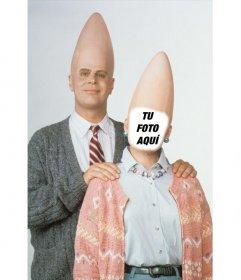 Fotomontaje para poner tu foto en la mujer de Cone Head