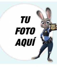 Fotomontaje con la Conejita Judy Hopps de la película Zootopia