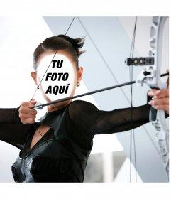 Fotomontaje de una arquera profesional para ponerle tu cara