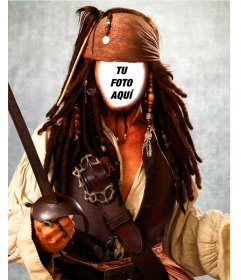 Fotomontaje del capitán Jack Sparrow para tu foto