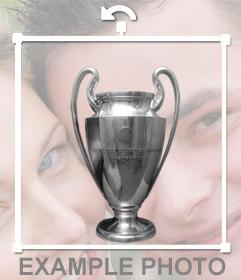 Copa de la Liga de Campeones para añadir en tus fotos como un sticker y decorar tu foto de perfil