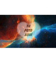 Collage para poner tu foto enmedio de una nebulosa