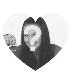 Marco en forma de corazón donde puedes añadir tu foto gratis