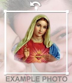 Sticker online de la virgen Maria para poner en tu foto
