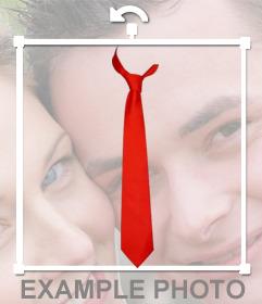 Fotomontaje online para poner una corbata roja en tus fotos
