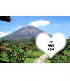 Postal del Volcán Arenal con tu imagen