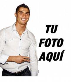 Foto montaje para poner tu foto junto a Cristiano Ronaldo