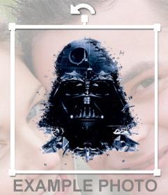 Pegatina de Darth Vader y la estrella de la muerte