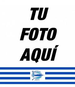 Añade una cinta en tus fotos con los colores y el escudo del Deportivo Alavés