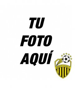 Fotomontaje con el escudo del Deportivo Tachira FC para hacer un collage con tu foto