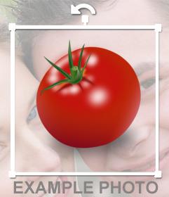 Sticker pegatina de un tomate para ocultar caras en fotos