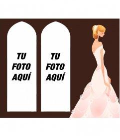Collage para dos fotos de novia