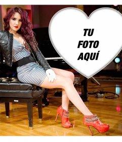 Foto montaje gratis con Dulce María en una pose sexy