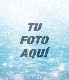 Efecto de agua y brillos para tu foto
