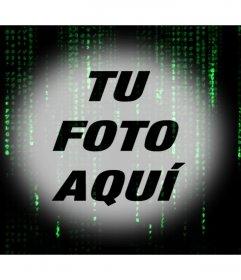 Efecto Matrix con el código de letras verdes sobre tu foto