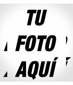 Filtro para tu foto con un efecto repetido blanco y negro