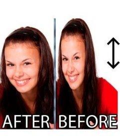 Efecto para adelgazar una foto o cara online