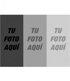Montaje de filtros fotográficos. sube una foto y con esta plantilla obtienes una composición de tres fotografías en degradado en escala de grises
