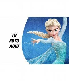 Fondo para foto con Elsa de Frozen
