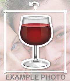 Copa de Vinotinto para añadir en tus imágenes como un sticker decorativo