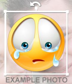 Emoticono triste para poner en tus fotos