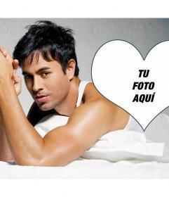 Fotomontaje con el cantante Enrique Iglesias