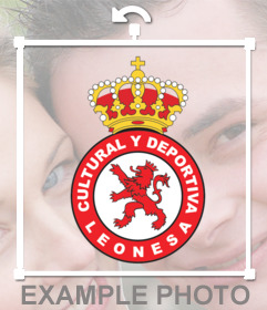 Escudo de la Real Leonesa de fútbol para ponerlo en tus fotos