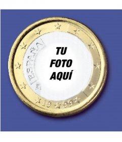 Fotomontaje donde podrás poner tu cara en una moneda de un euro