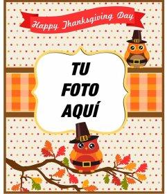 Postales y marcos para el Día de Acción de Gracias