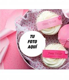 Postal para poner tu foto en un cupcake