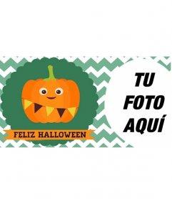 Foto de portada de Facebook de Halloween con una calabaza