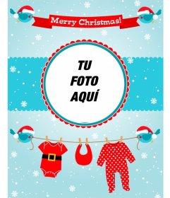 Tarjeta de Merry Christmas especial para la foto de un niño o niña