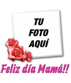 Tarjeta para el día de la madre con el texto TE QUIERO MAMÁ!