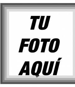 Foto marco con varios tonos de grises y un filtro blanco y negro para tus fotos