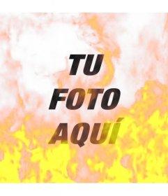 Filtro fotográfico para simular una fotografía ardiendo envuelta en llamas de fuego