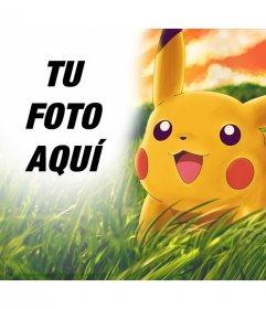 Foto efecto para añadir a Pikachu en tu foto online