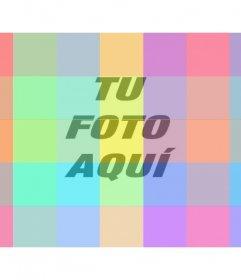 Filtro fotográfico online con cuadros de múltiples colores diferentes para colorear tus imágenes de una forma muy divertida y diferente
