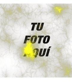 Filtro para fotos estraño con luces amarillas tipo rayos o neuronas para poner sobre tus fotos y editarlas online