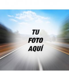 Filtro con una foto de una carretera en la autopista para crear un collage online con tu foto en el centro