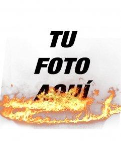 Pon en tus fotos un efecto de llamas, perfecto para darle vida a tus fotos de perfil!