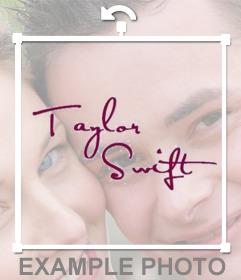 Autografo de la cantante Taylor Swift para poner en tus fotos