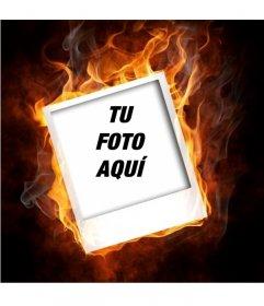 Marco que simula que tu foto está ardiendo